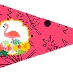 Bandeirinha Sanduiche 4 Flamingo Tropical