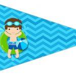 Bandeirinha Sanduiche 4 Pool Party Menino