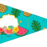 Bandeirinha Sanduiche 5 Flamingo Tropical