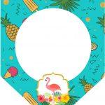 Bandeirinha Varalzinho 3 Flamingo Tropical