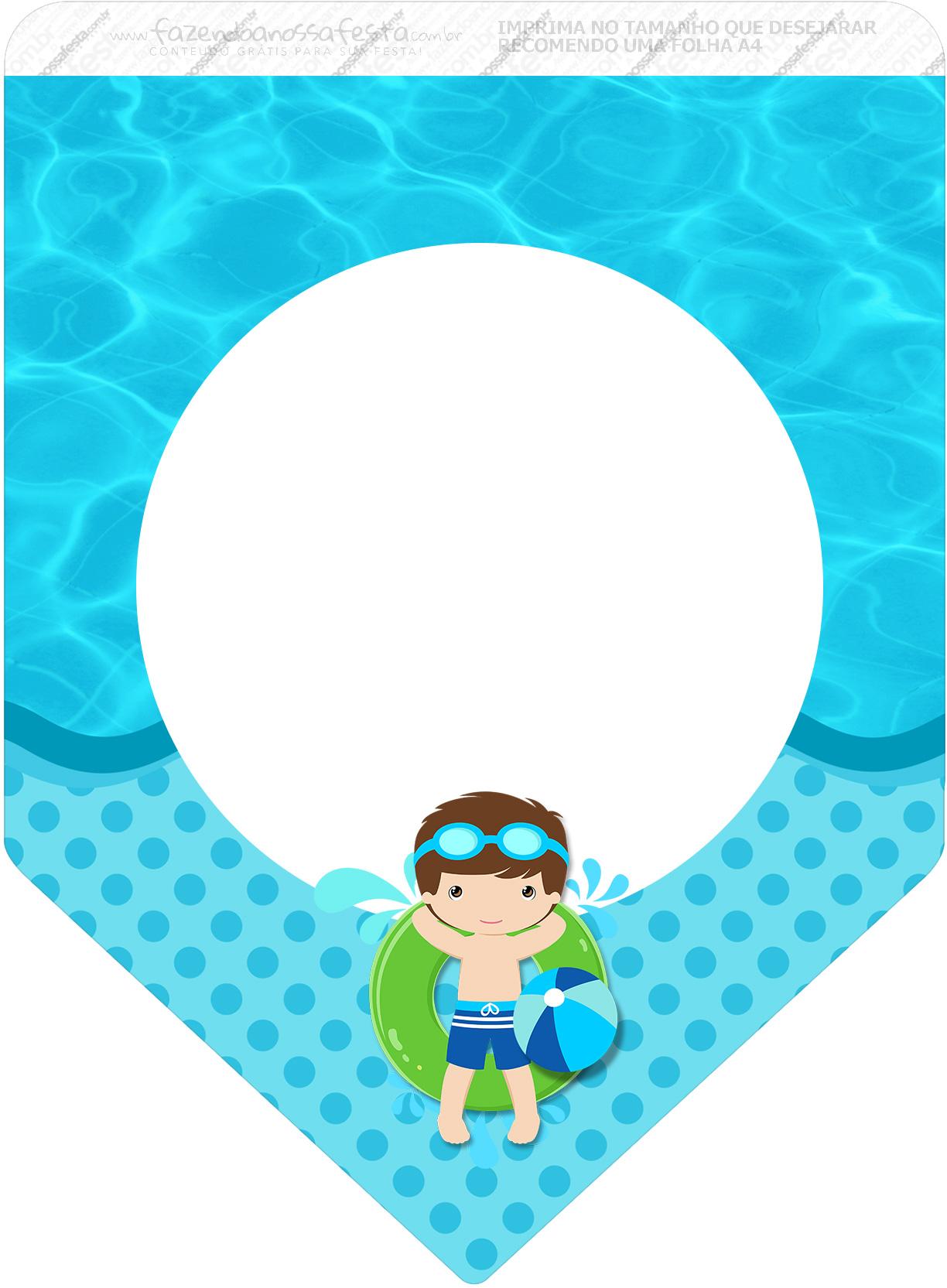 Bandeirinha Varalzinho 3 Pool Party Menino
