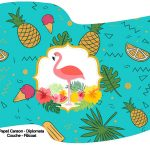 Bandeirinha Varalzinho Flamingo Tropical
