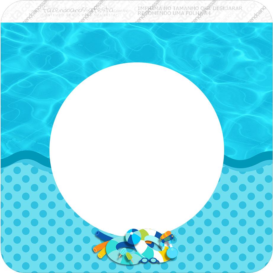 Bandeirinha Varalzinho Quadrada Pool Party Menino