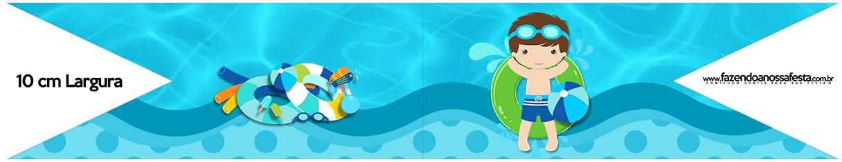 Bandeirinha para Sanduiche Pool Party Menino
