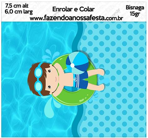 Bisnaga Brigadeiro 15gr Pool Party Menino