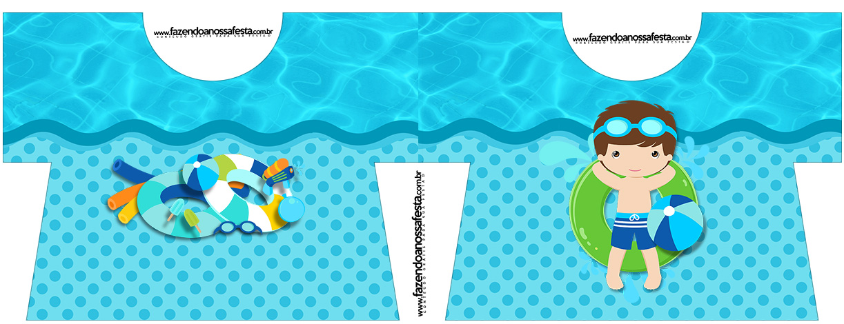 Caixa Camisa Pool Party Menino
