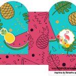 Caixa Coração Flamingo Tropical