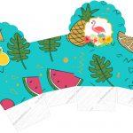 Caixa Cupcake Flamingo Tropical