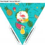 Caixa Piramide Flamingo Tropical