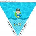 Caixa Piramide Pool Party Menino