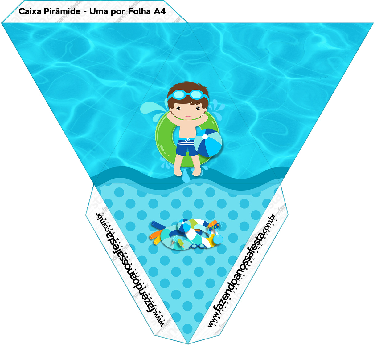 Caixa Piramide Pool Party Menino