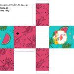 Caixa Tubete Flamingo Tropical