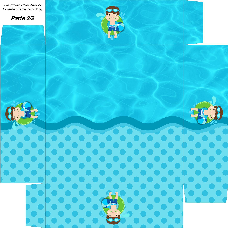 Caixa bombom Fundo Pool Party Menino
