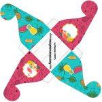 Caixa bombom pequeno Flamingo Tropical