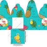 Caixa com Foto Flamingo Tropical