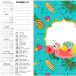 Calendario 2017 2 Flamingo Tropical