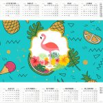 Calendario 2017 Flamingo Tropical