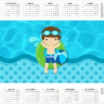 Calendario 2017 Pool Party Menino Kit Festa