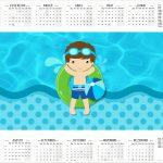 Calendario 2017 Pool Party Menino Kit Festa