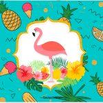 Cartao Flamingo Tropical