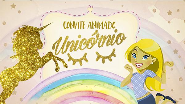 Convite Animado Unicórnio Grátis