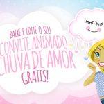 Convite Animado Virtual Chuva de Amor Grátis para Download