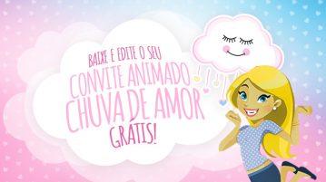 Convite Animado Virtual Chuva de Amor Gratis