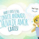 Convite Animado Virtual Chuva de Amor Menino Grátis para Download