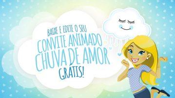 Convite Animado Virtual Chuva de Amor Menino Gratis para Baixar