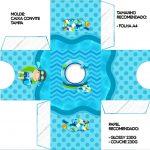 Convite Caixa Tampa Pool Party Menino