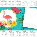 Convite Calendario 2017 Flamingo Tropical