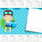 Convite Calendario 2017 Pool Party Menino