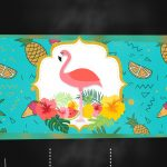 Convite Chalkboard Flamingo Tropical 2