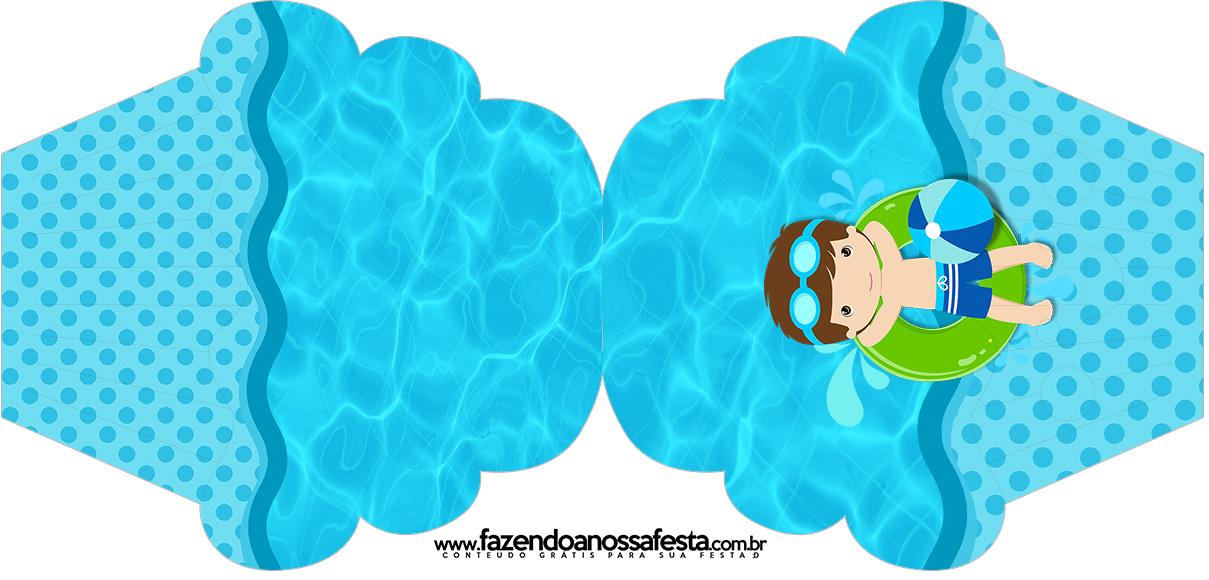 Convite Cupcake Pool Party Menino