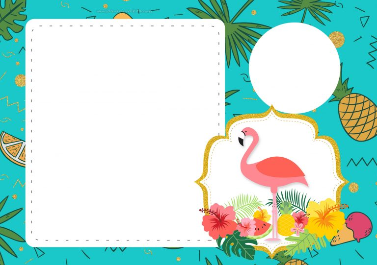 convite flamingo tropical 5