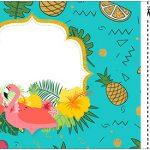 Convite Ingresso Flamingo Tropical