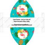Convite Vestido 83 Flamingo Tropical