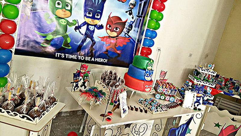 Decoração Festa Infantil PJ Masks do Levy