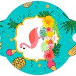 Enfeite Canudinho Flamingo Tropical