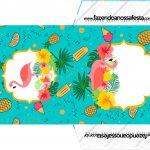 Envelope CD DVD Flamingo Tropical