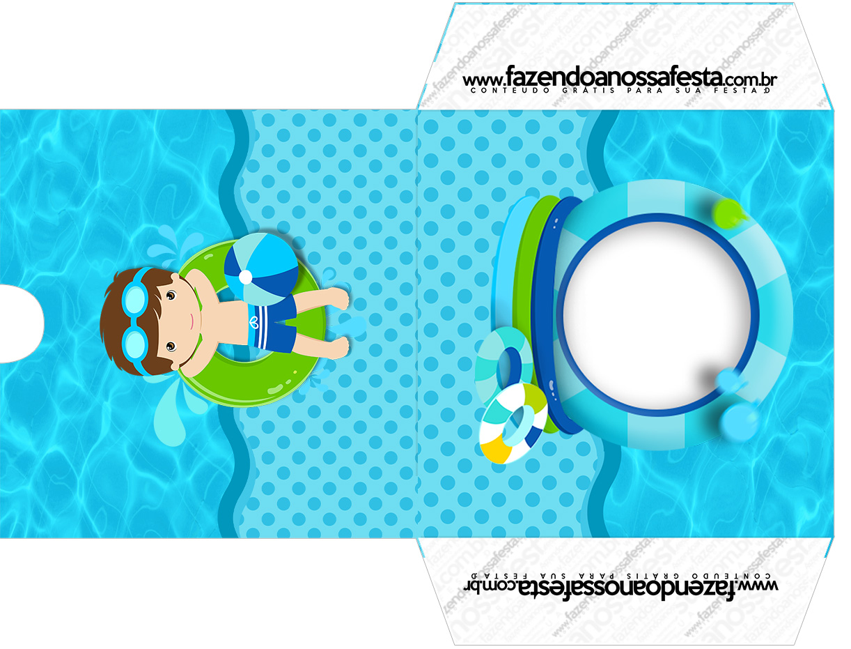 Envelope CD DVD Pool Party Menino