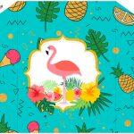 Envelope Convite Flamingo Tropical Kit Festa