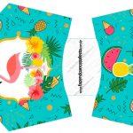 Envelope Fritas Flamingo Tropical Kit Festa