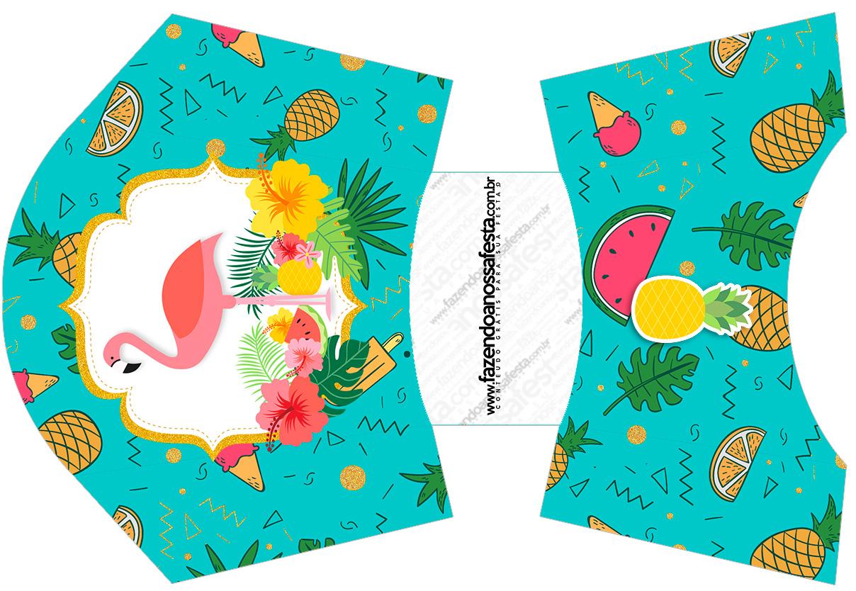 Envelope Fritas Flamingo Tropical Kit Festa Fazendo A Nossa Festa