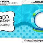 Envelope do Cartao Agradecimento Pool Party Menino