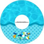 Etiqueta CD DVD Pool Party Menino
