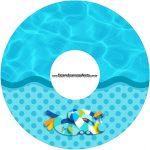 Etiqueta CD DVD Pool Party Menino