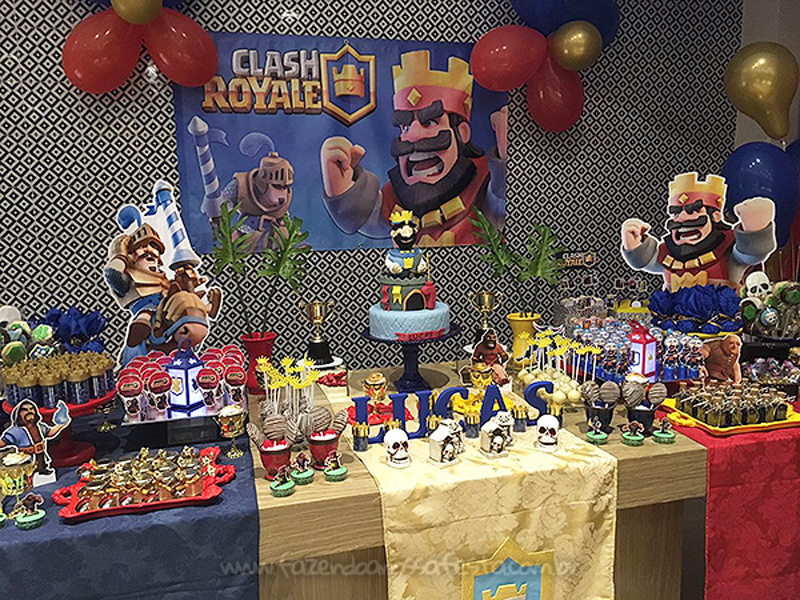 Festa Clash Royale do Lucas