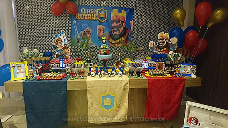 Festa Infantil Clash Royale do Lucas 11