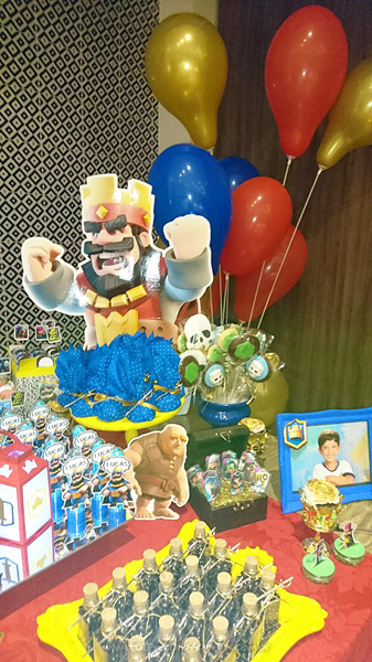 Festa Infantil Clash Royale do Lucas 17